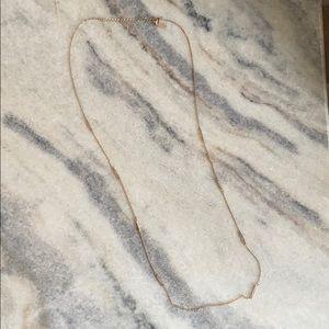 Bauble Bar long pave necklace